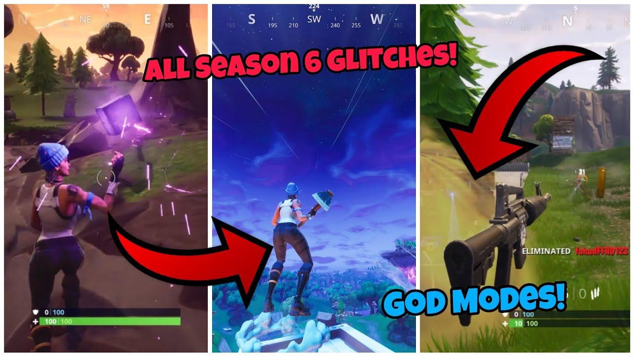 All Season 6 Working Glitches Top 5 Fortnite Glitches Season 6 Ps4 Xbox One 2018 Youtube