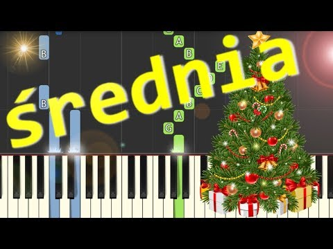 🎹 Cicha noc (silent night) - Piano Tutorial (średnia wersja) 🎹(MEDIUM)