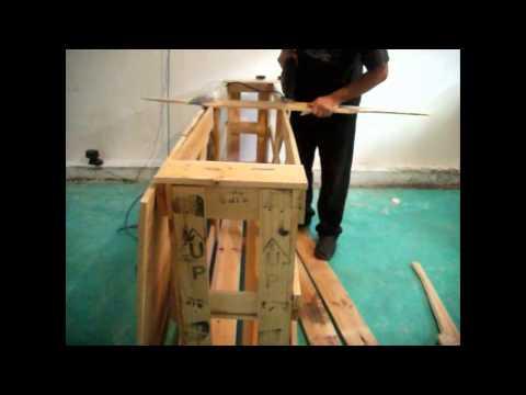 Como hacer una barra comedor (con pallets)   youtube