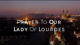 Image of Prayer to Our Lady of Lourdes HD video