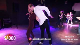 Aleksandr Frolov and Tania Cannarsa Salsa Dancing at Moscow MamboMania weekend, Sunday 28.10.2018