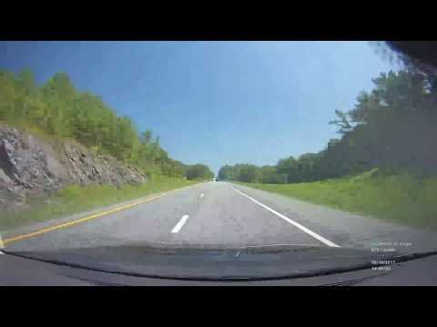 Time Lapse Drive - Stafford, CT to Quebec City