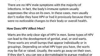 Detecting HPV in Men