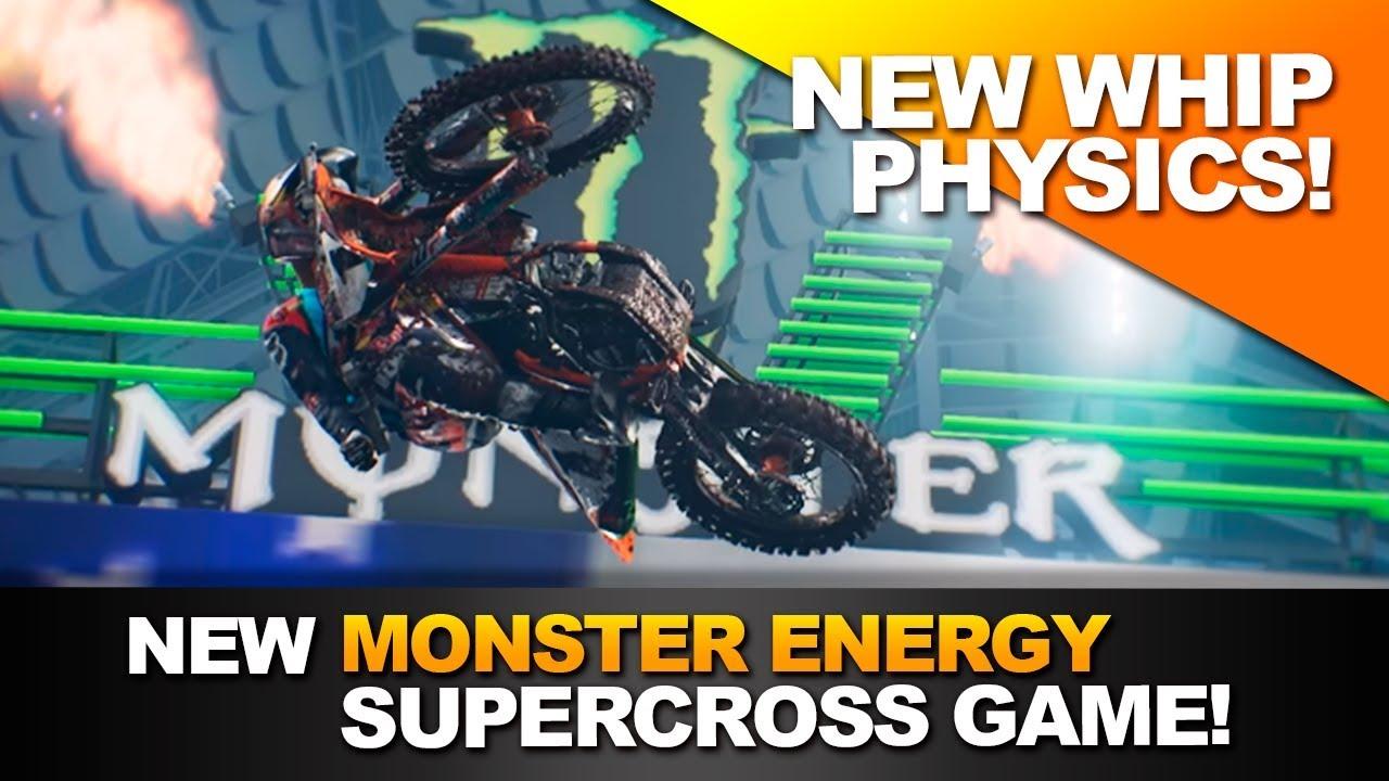 new whip physics monster energy supercross game. Black Bedroom Furniture Sets. Home Design Ideas
