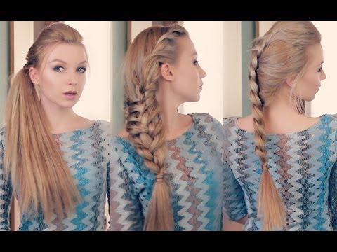 Как сделать 3 ОРИГИНАЛЬНЫЕ причёски самой ! Easy every day hairstyle tutorial