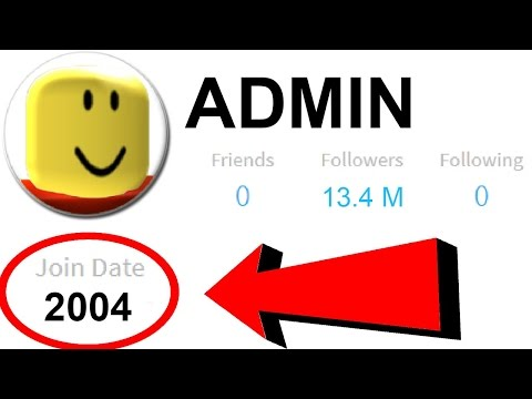 FIRST ROBLOX ACCOUNT EVER CREATED!