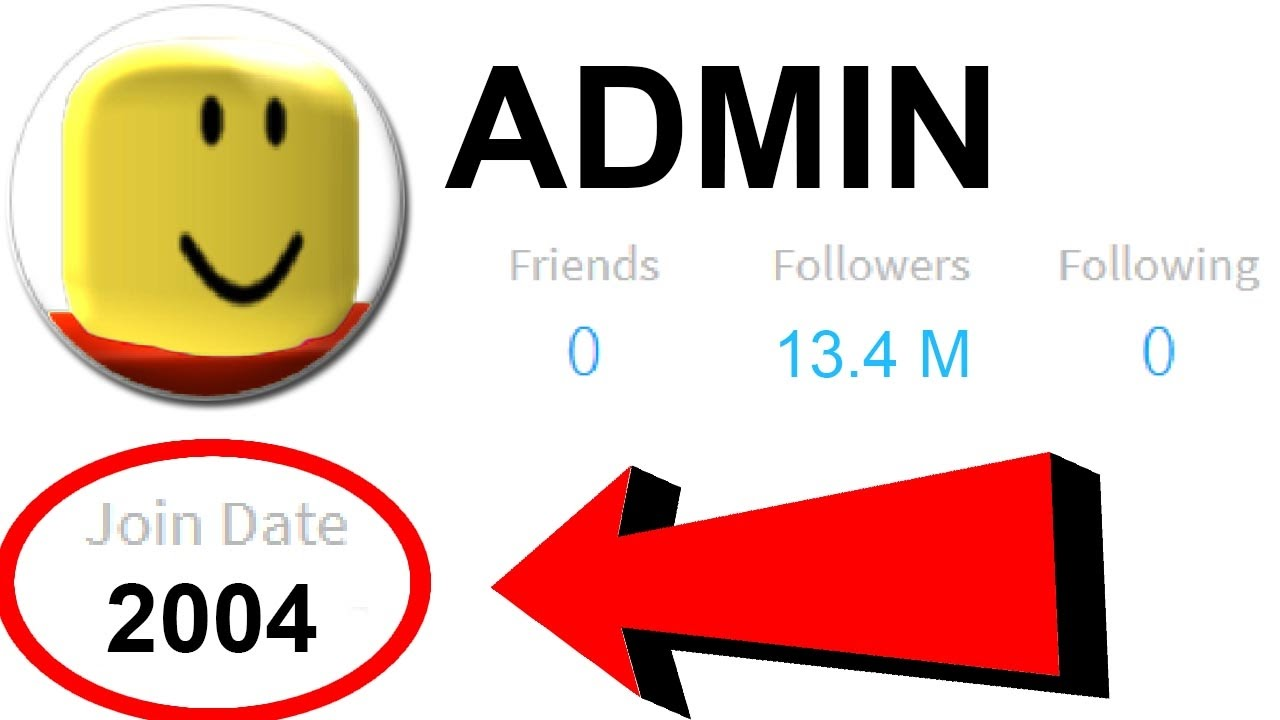 First Roblox Account Ever Created - roblox administrator accounts