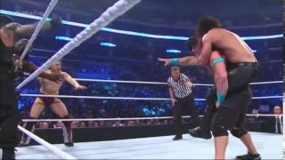 WWE SmackDown 3/26/15 - 8 Man Tag Team Match