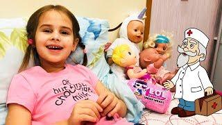 Алина заболела простудой Смотрим Мультики и открываем новую куклу ЛОЛ капсулу