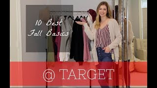 Top 10 Fall Basics | Target Haul & Try-on!