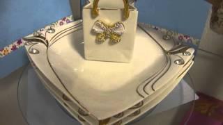 Блистающий великолепием набор посуды от Презент Клуба(Белоснежную посуду, украшенную стразами , можно великолепно комбинировать для сервировки праздничного..., 2015-11-19T19:23:40.000Z)