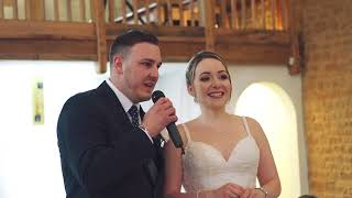 Hannah & Matt. Wedding highlights from Haselbury Mill in Somerset, 7-4-18