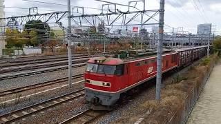 JR貨物 EF510 13(2080レ)新大阪~東淀川2019.12.06
