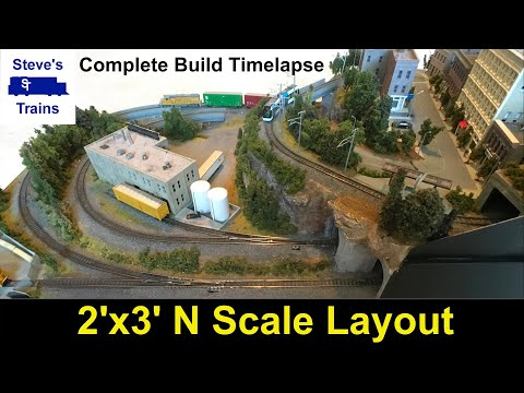 N Scale Mini Layout Project Video Compilation