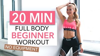 20 MIN FULL BODY WORKOUT - Beginner Version // No Equipment I Pamela Reif