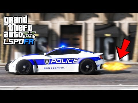 This Police Supercar shoots GIANT Flames!! (GTA 5 Mods - LSPDFR Gameplay)