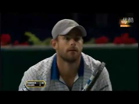 Andy Roddick Vs Ernests Gulbis 2010 Paris 3R Highlights