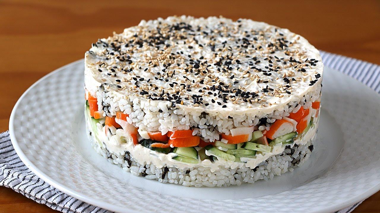 Ensalada SUSHI super buena y fácil. De sabor es como el sushi