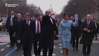 Trump Leads Inaugural Parade Through Washington