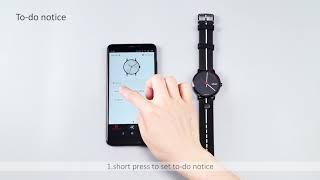 operation video of a.b.art touch smart watch