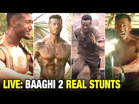 Tiger Shroff's LIVE & REAL Action STUNTS For Baaghi 2