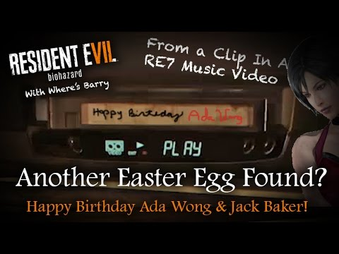 RESIDENT EVIL 7 EASTER EGG | Happy Birthday Ada Wong |Clancy & Lucas VHS Tape