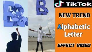 New tiktok trend, Alphabetic Letter breaks down effect video , kinemaster tutorials,2019