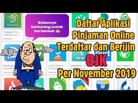 Daftar Aplikasi Pinjaman Online Terdaftar Dan Berijin Ojk November