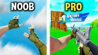 He got LEAKED FIRST PERSON MODE in Fortnite.. (Noob vs. Pro)