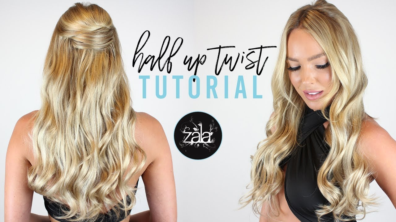 Half Up Twist Formal Hairstyle 1 Zala Hair Extensions Youtube