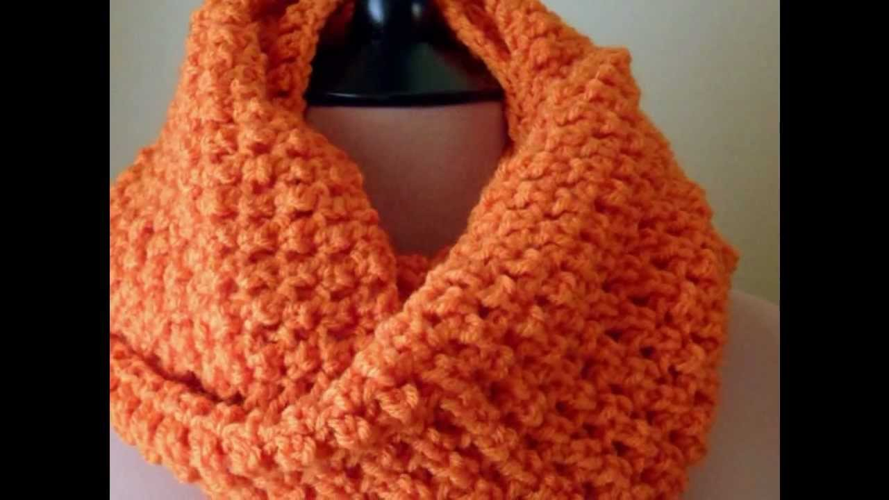 Orange crochet infinity scarf easy youtube bankloansurffo Images