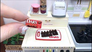 Mini Kitchen toys(ASMR) | Miniature cooking | Realistic Mini Food-Choco Fondue