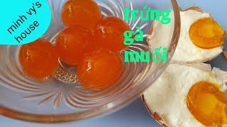 #48 trứng muối - cách làm trứng gà muối - và cách bảo quản trứng để lâu không hư