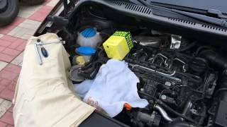 Замена топливного фильтра VW CADDY 1.6 TDI common rail