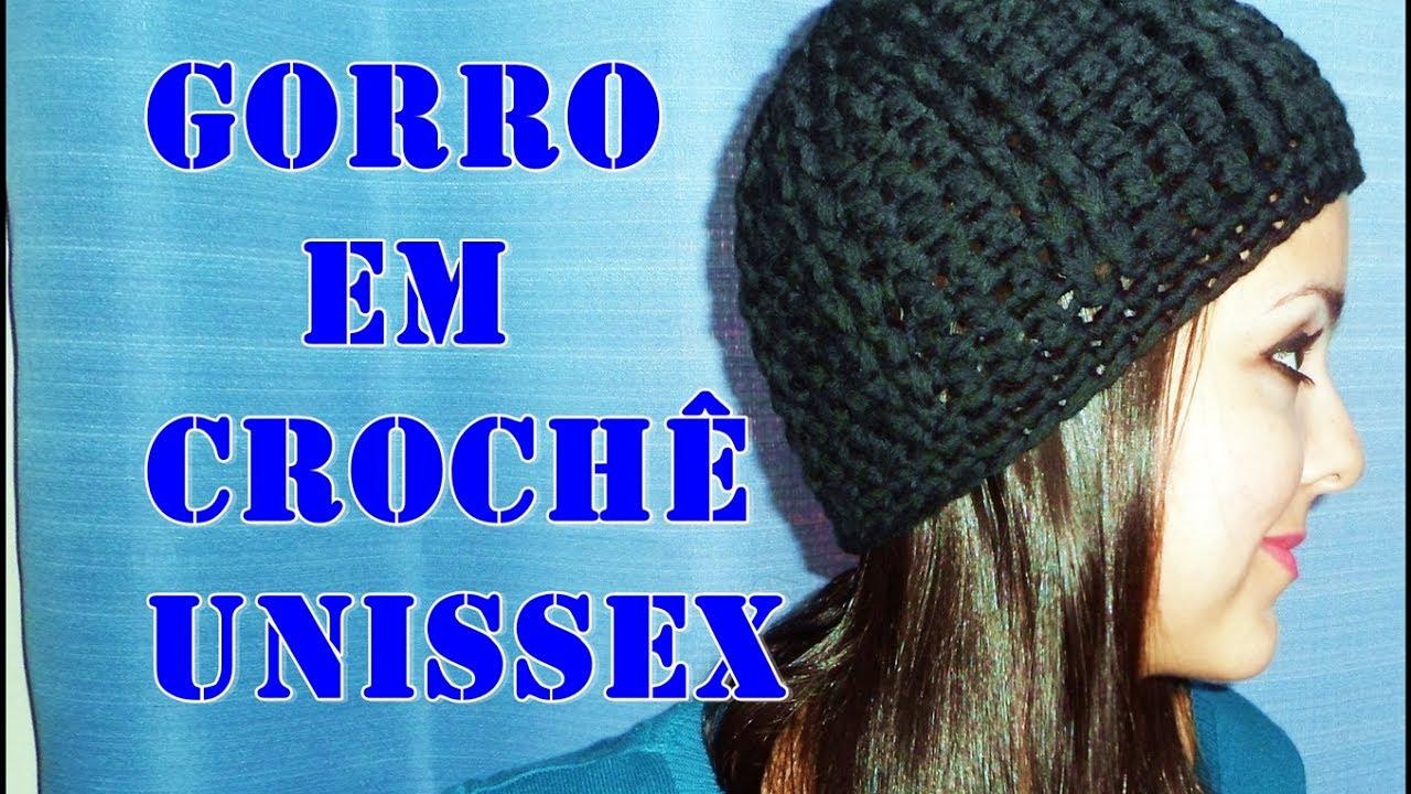Gorro Touca em Crochê Adulto Unissex - YouTube d62b59d3f20