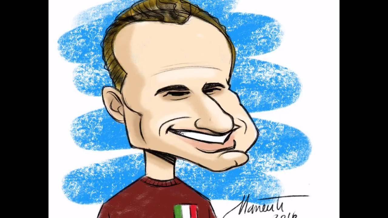 Caricatura Valentino Mazzola