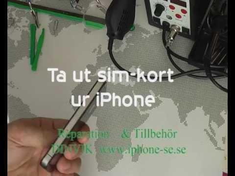 byta simkort iphone 4 till 6