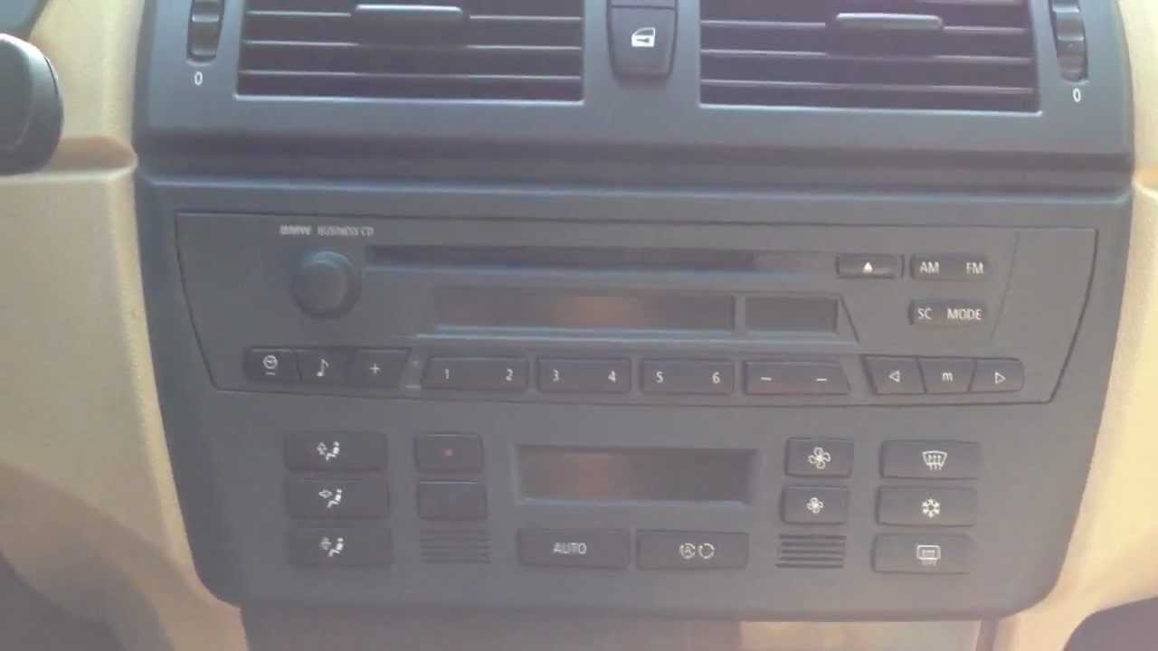 Bmw X3 Sound System Review Cd Player Youtube
