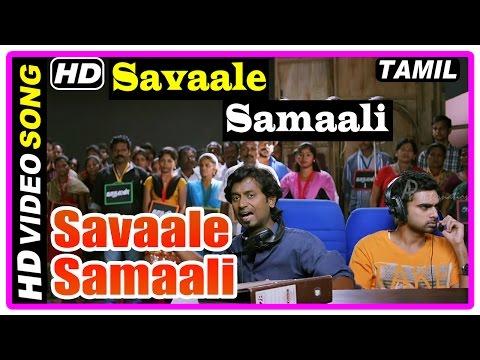 Savaale Samaali Tamil Movie | Songs | Savaale Samaali Song | Bindu Madhavi Comes To Set