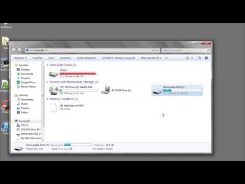 How to Drag & Drop Files to a Flash Drive : Data Organization & Computer Skills