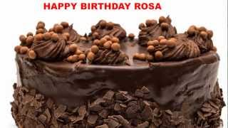 Rosa - Birthday cakes - Happy Birthday