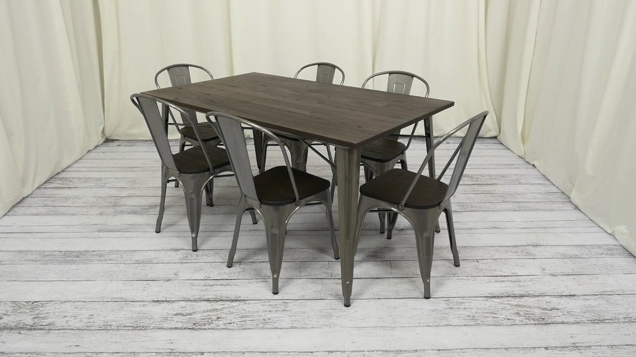 Dining chairs wood dining chair plans fusion design wood dining - Fusion Rectangular Dining Table Dhp Furniture
