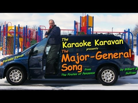 Major-General Song from the Pirates of Penzance--Karaoke Kar