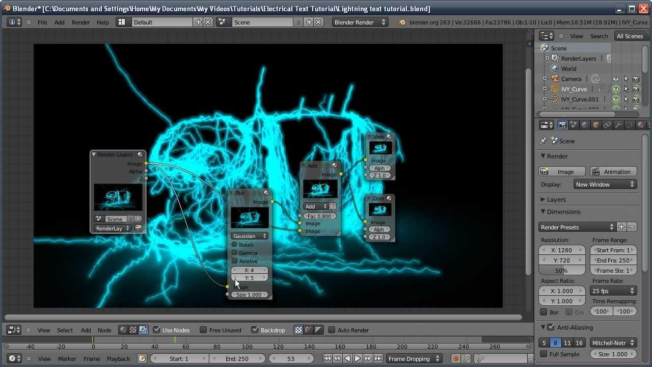Blender Tutorial Lightning Electricity Text Effect