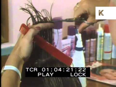 1980s Hairdresser and Woman at the Dentist, Archive Footage