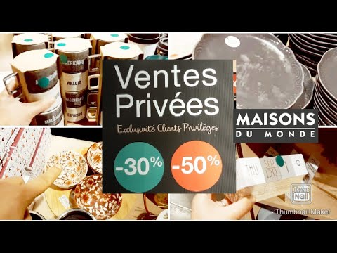 MAISONS DU MONDE VENTES PRIVEES -8% ET 8% 8 JANV 8