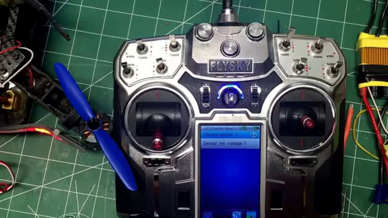FS-i10 putting a voltage sensor on your receiver and programming your  transmitter