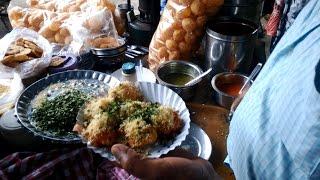 Chat Pati Chaat | Sev Puri & Sukha / Dry Bhel | Mumbai Street Food |  India 2015 [HD VIDEO]