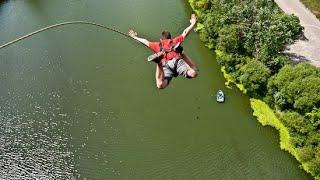 Парочка прыжков с моста. Роупджампинг.