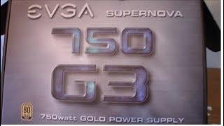 EVGA Supernova 750 G3 80Plus Gold 750W Fully Modular Power Supply With 10 Year Warranty & 150mm Size